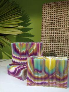 Artisan soap - column swirl, pvsoap.com