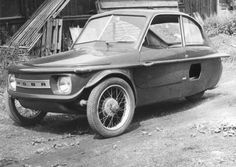 Hoba I 350 (Czechoslovakia) Funny Looking Cars, Vintage Cars, Antique Cars, Vw Wagon, Weird Cars, Strange Cars, Kei Car, Vespa, Microcar