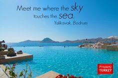 Meet me where the sky touches the sea. #Bodrum #Yalikavak #Turkey