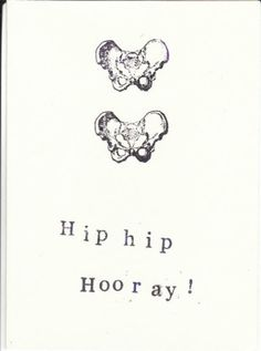 Blue Specs Studio — Funny Skeleton Anatomy Card - Hip Hip Hooray