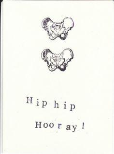 Blue Specs Studio — Funny Skeleton Anatomy Card - Hip Hip Hooray
