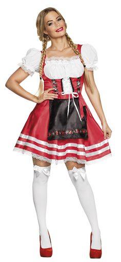 Boland verkleedpak dirndl Helena dames rood maat L Quinceanera, Ballet Skirt, Disney Princess, Skirts, Outfits, Fashion, Carnival, Dirndl, Oktoberfest