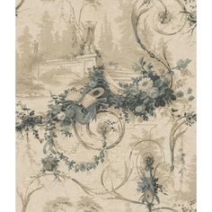Bridge Scenic wallpaper in style made popular by Eugene Delicourt in 1850.  Celebrate 120 years of wallpaper excellence by York Wallcoverings.  Available at http://lelandswallpaper.com
