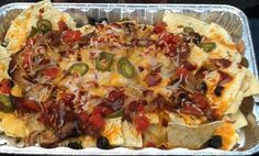 pulled pork nachos: fantastic use of leftover pork!