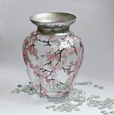 Hand-painted Dogwood (or Cherry Blossom?)