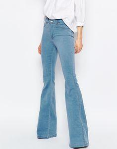 Image 1 of Dr Denim Brigitte High Waist Skinny Flare Jeans