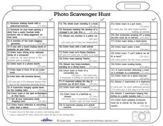 Printable Photo Scavenger Hunt List Coolest Free Printables: Fun and Games Picture Scavenger Hunts, Scavenger Hunt Party, Adult Scavenger Hunt, Halloween Scavenger Hunt, Team Building, Building Ideas, Amazing Race, Awesome, Summer Fun