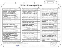 Printable Photo Scavenger Hunt List - Coolest Free Printables: