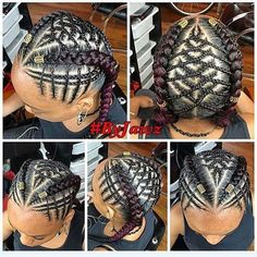 35 Stylish Cornrow Hairstyles Cornrows are a great, versatile protective style that can be long-lasting and low-maintenance. Here are 35 beautiful cornrow hairstyles to check out right now! Kids Braided Hairstyles, African Braids Hairstyles, Little Girl Hairstyles, Childrens Hairstyles, Teenage Hairstyles, Black Girl Braids, Braids For Black Hair, Cabello Afro Natural, Hair With Flair