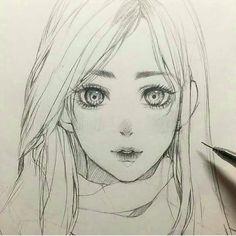 Tasuchii artwork artist, that is me in 2019 dibujar arte, dibujos de anime, Anime Drawings Sketches, Anime Sketch, Manga Drawing, Cartoon Drawings, Pencil Drawings, Pencil Art, Drawing Hair, Drawing Faces, 2b Pencil