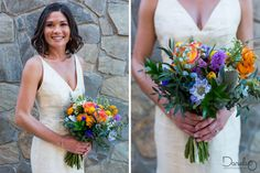 In love with this destination wedding whole style. Look at that bouquet!
