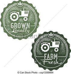 Vector - Fresh Farm Locally Grown Stamps - stock illustration, royalty free illustrations, stock clip art icon, stock clipart icons, logo, line art, EPS picture, pictures, graphic, graphics, drawing, drawings, vector image, artwork, EPS vector art