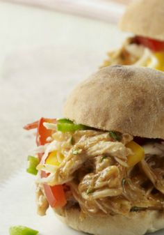 Pulled Chicken Sliders with Mango Barbecue Sauce Recipe