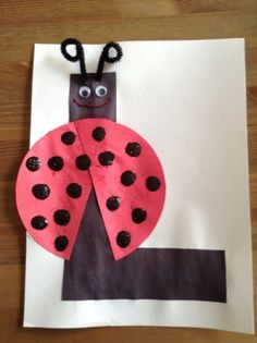 letter l preschool craft | is for Ladybug Craft - Spring Craft - Letter Craft.  But make with lowercase l
