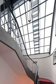 West Village Townhouse, Staircase to the Roof Terrace, New York, BWArchitects Library Ladder, Open Staircase, Eco Architecture, Interior Decorating, Interior Design, West Village, Pent House, Townhouse, New Homes