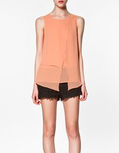 Zara asymmetric seamed top $49.99