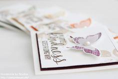 Stampin Up Geburtstagskarte, Birthday Card, Grusskarte, Mini Card, Stempelset Kinda Eclectic, Stanzer Eleganter Schmetterling, Stanzer Mini Schmetterling,
