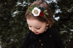 Felt Flower Accessories and gifts for littles. Holiday Style, Holiday Fashion, Gold Crown, Holiday Photos, Felt Flowers, Little Girls, Ivory, Christmas, Gifts