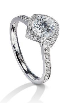 Lucienne .29ctw Diamond Platinum Semi-Mount Ring