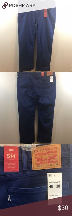 LEVIS 514 2WAY STRETCH MEN'S JEANS WAIST 40  Waist: 40 Inches Length: 42 Inches Inseam: 30 Inches  Jeans are BRAND NEW WITH TAGS!!! Price is firm and non negotiable. Levi's Jeans Straight