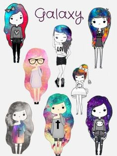 Just love the hair. cute drawings tumblr - Google Search