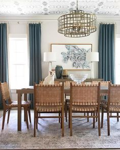 We're convinced that, when done well, a patterned rug can coexist with a patterned ceiling. And this room by is done… Real Talk, Rugs, Inspiration, Furniture, Home Decor, Ceiling, Instagram, Farmhouse Rugs, Biblical Inspiration
