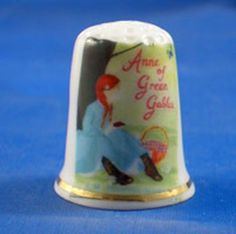 RP: FINE CHINA THIMBLE - ANNE OF GREEN GABLES - ebay.com