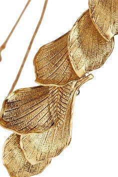 Jennifer Behr | Lotus Petal gold-plated headband | NET-A-PORTER.COM