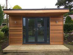 Backyard Office, Backyard Studio, Garden Office, Backyard Retreat, Backyard Storage Sheds, Backyard Sheds, Summer House Garden, Home And Garden, Modern Landscaping