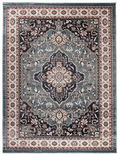 Motif Persan Traditionnel et Oriental Tapis de Salon Ultra Doux Petit Tapis dOrient 60/_x/_100/_cm AYLA BLANC BEIGE CR/ÈME