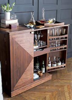 Maxine Bar Cabinet //another view of the bar I'd like to own from Crate and Barrel #oakridgestyleheist