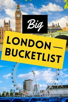 Looking to know the top things to do in London? When your time in London is short, it helps to know what those must-do things are to ensure you don't miss out on any big nuggets during your visit. Check out our London bucket list for the top 12 things you need to do in London.   London travel places destinations   London travel tips   London travel checklist   London travel ideas   travel London England   London travel guide   London landmarks   #London #visitLondon #travel #londontravel London Guide, London Tours, London Attractions, London Landmarks, London England Travel, London Travel, Travel Checklist, Travel Guide, Cool Places To Visit