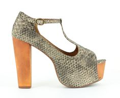 JEFFREY CAMPBELL FOXY WOOD GREY #shoes