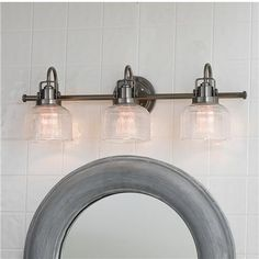 Fresnel Glass Restoration Bath Light - 3 Light 2 finishes!