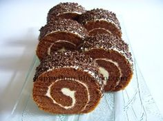 Happy Flour: Chocolate Rice Swiss Roll
