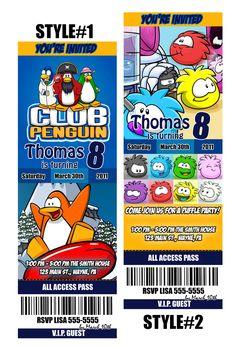 Club Penguin Invitation