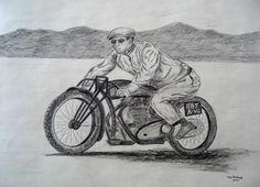 Jean Claude Barrois JAP--rudge-whitworth at Bonneville , 2010. 18x24, graphite pencil, march 18, 2015.CIMG9651