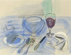 Still Life  -  Raoul Dufy  French, 1877-1953  Gouache on paper,