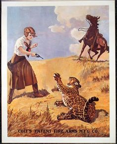 Colt Vintage Gun Advertising Poster