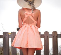Meet me at sunset: bow back dress giveaway