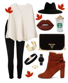 """Fall"" by tati-rg on Polyvore featuring moda, River Island, Prada, Topshop, MANGO, Yves Saint Laurent, Dorothy Perkins, Sole Society, Belk Silverworks y Lime Crime"