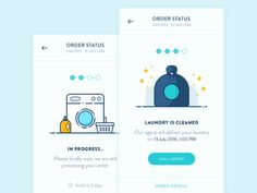 Order Status Screen - Laundry App