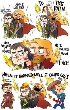 Thor hugging Loki - funny pictures / funny pics / lol /  #humor #funny #funnypictures #funnypics