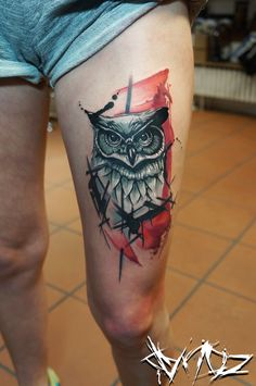 @dynoz art.attack //alternative owl //done @mahakala.tattoo.studio.ravensburg/germany