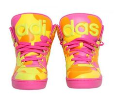 ADIDAS ORIGINALS BY JEREMY SCOTT INSTINCT HI NEON CAMO #sneaker