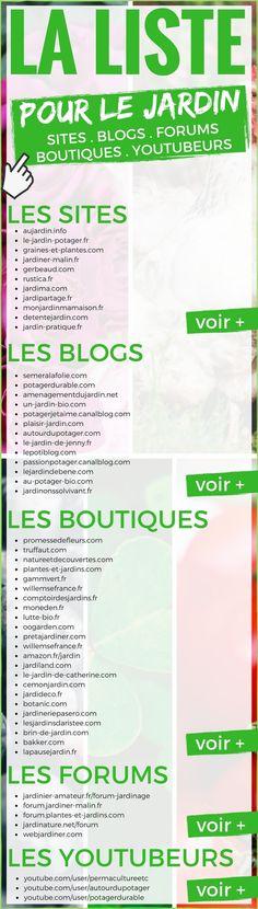 La Liste des Sites, Blogs, Forums, Boutiques & Youtubeurs à Connaître pour le Jardin
