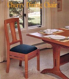 Cherry Dining Chair Plans - Furniture Plans and Projects - Woodwork, Woodworking, Woodworking Plans, Woodworking Projects Oak Dining Chairs, Dining Room Furniture, Table And Chairs, Side Chairs, Wood Chairs, Dining Tables, Furniture Projects, Furniture Plans, Wood Projects