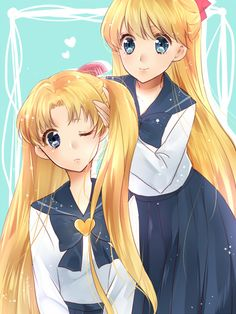 I always thought they'd look alike with Serena's hair down.