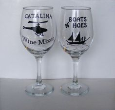 Gift SET of 2 Step Brothers funny wine glasses by braintees, $37.00