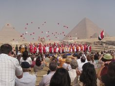 Graduation at the Pyramids in Egypt!!!